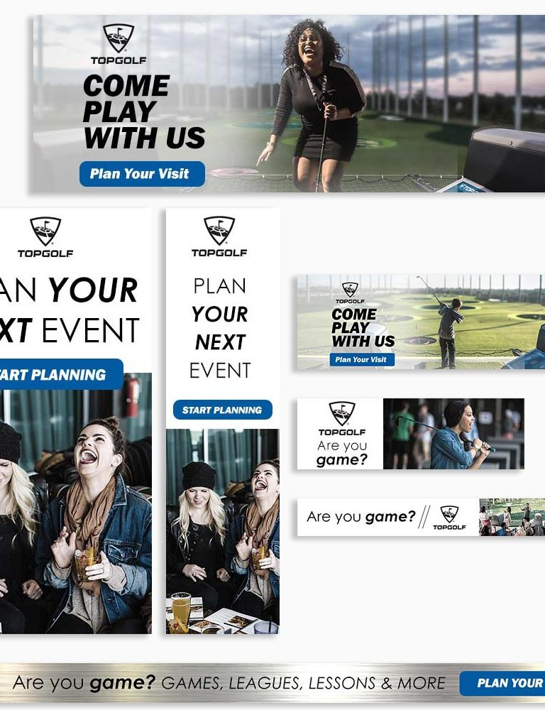 Top Golf Digital Ad Set