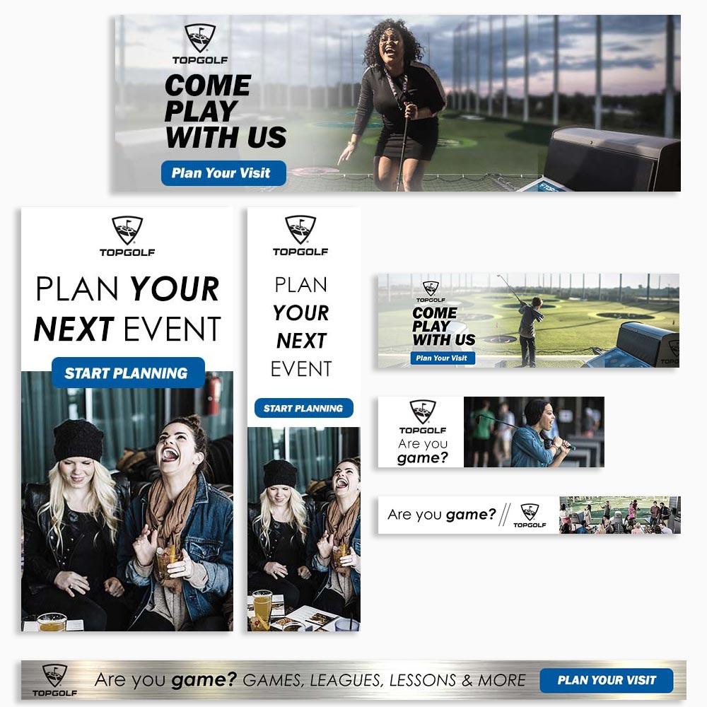 Top Golf Digital Ad Set