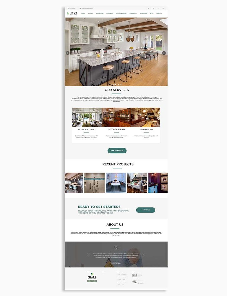 Next Home Design Website Design