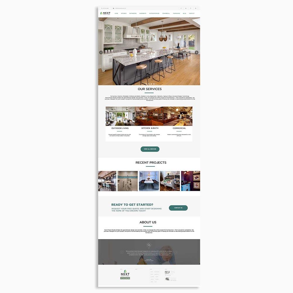 Next Home Design Website Design