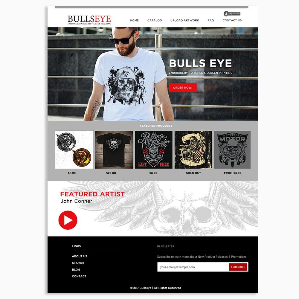 Bullseye Online Store Web Design