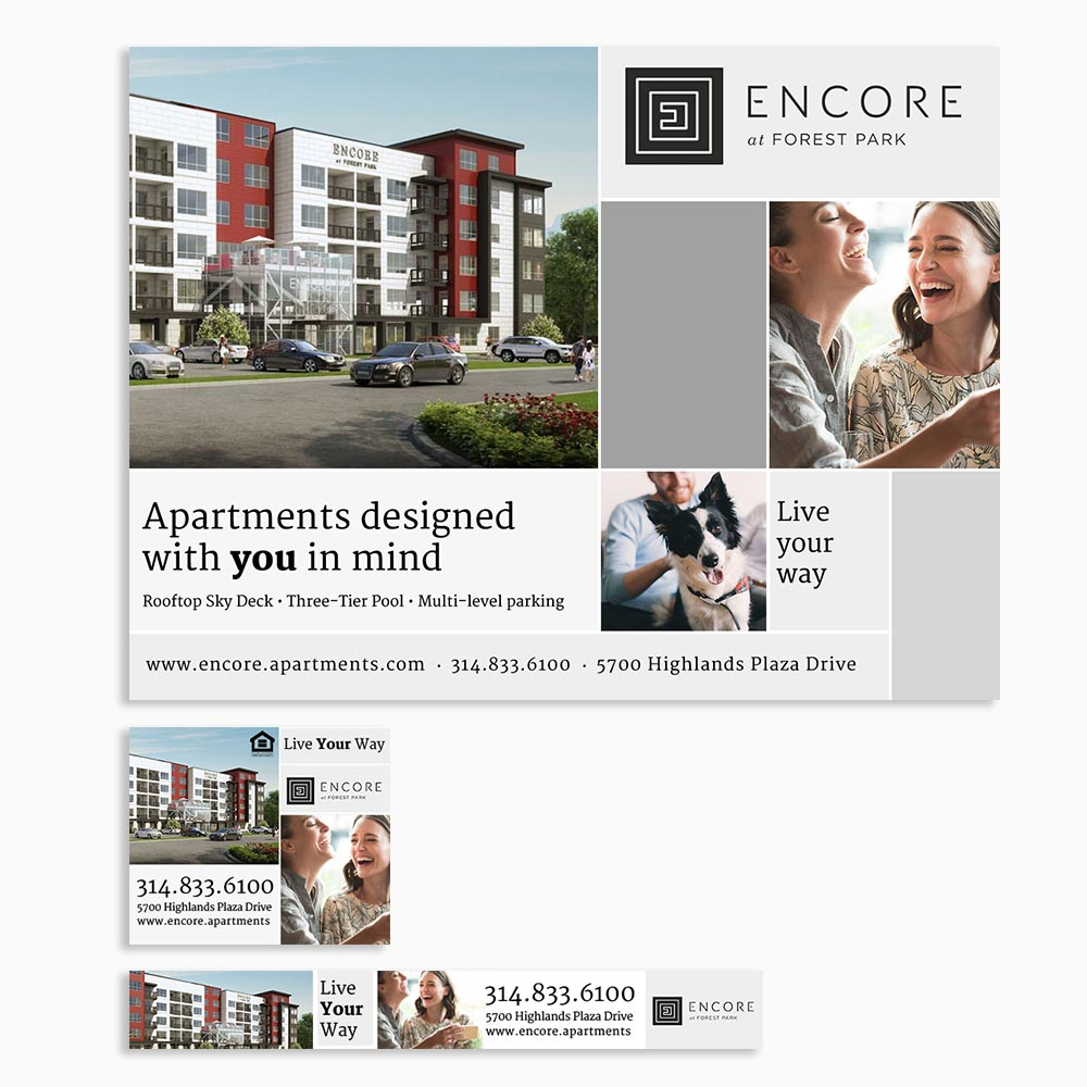 Encore Luxury Apartments Digital Ad Feature