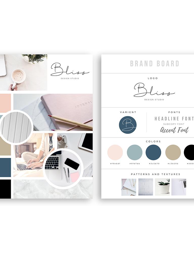 Bliss Design Studio Logo And Branding