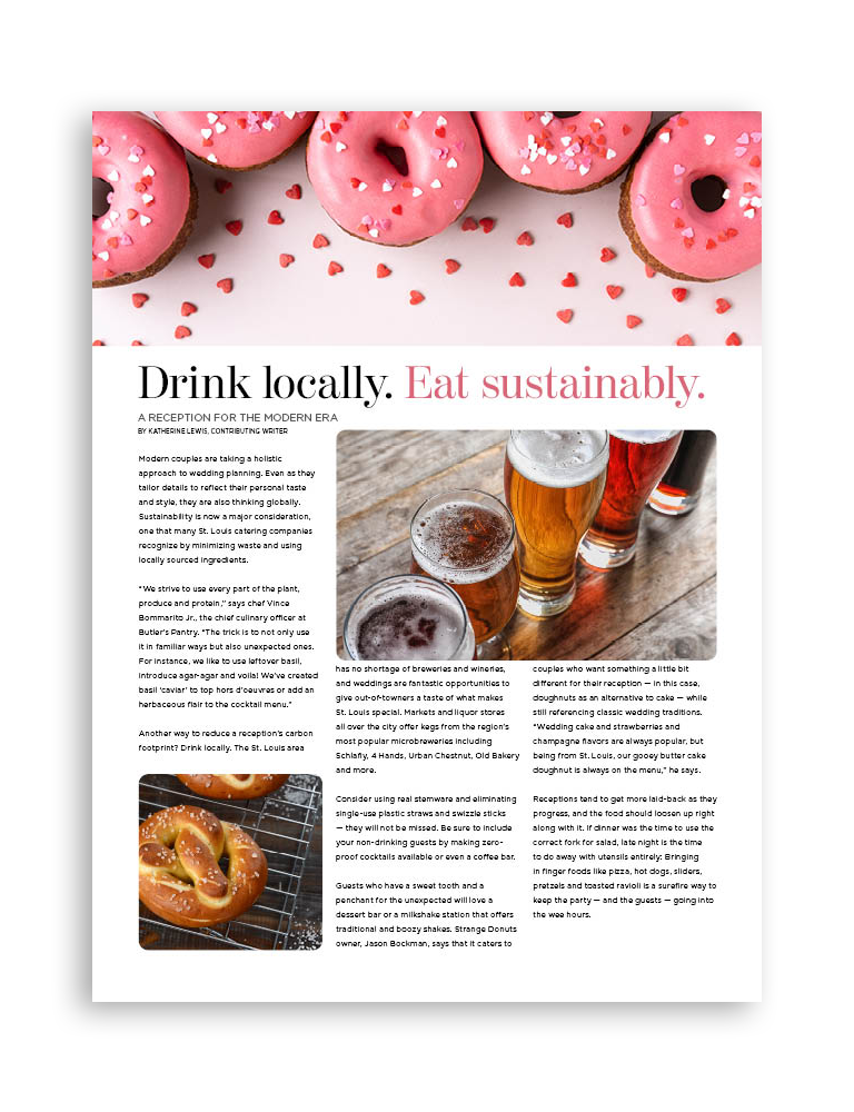 Drink Locally Eat Sustainably