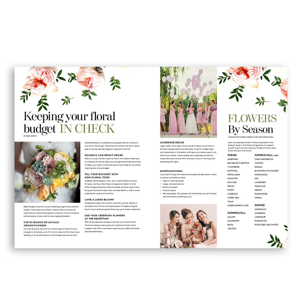 Floral Magazine Spread