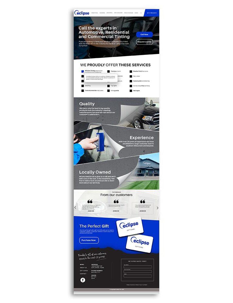 Eclipse client web design