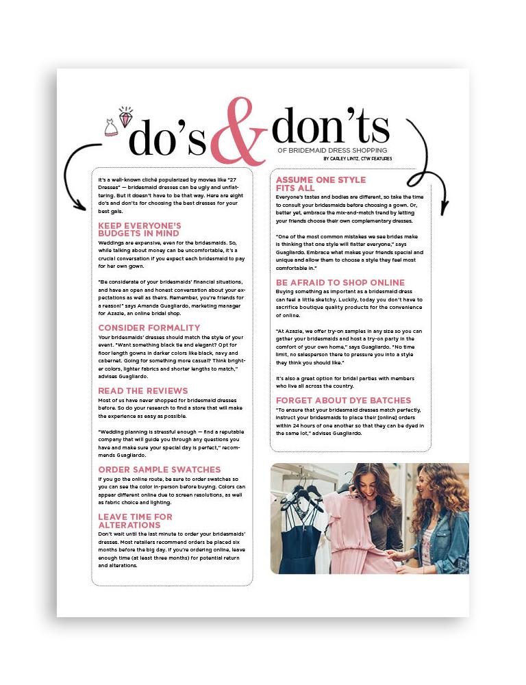 Bridal Magazine Page