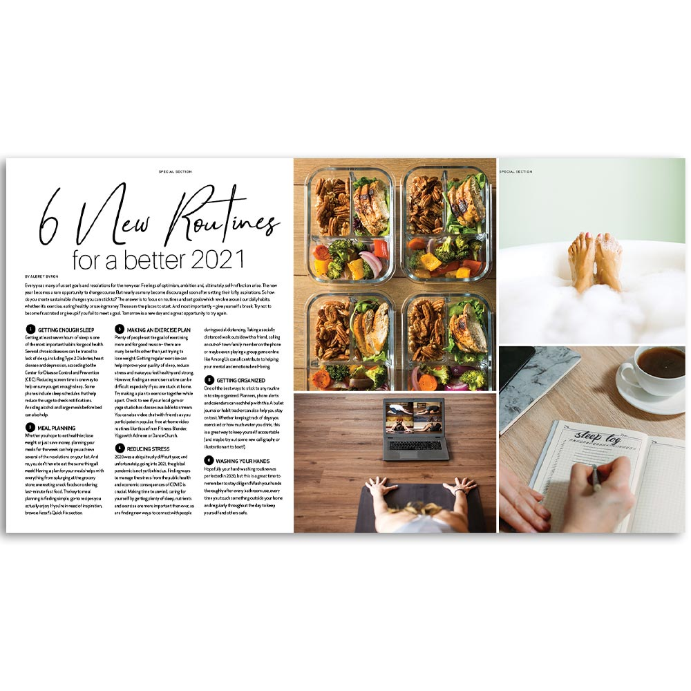New Routines Magazine Page