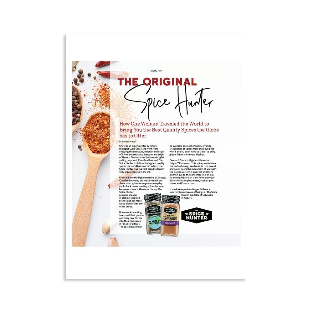 Spice Hunter Ad Magazine Page